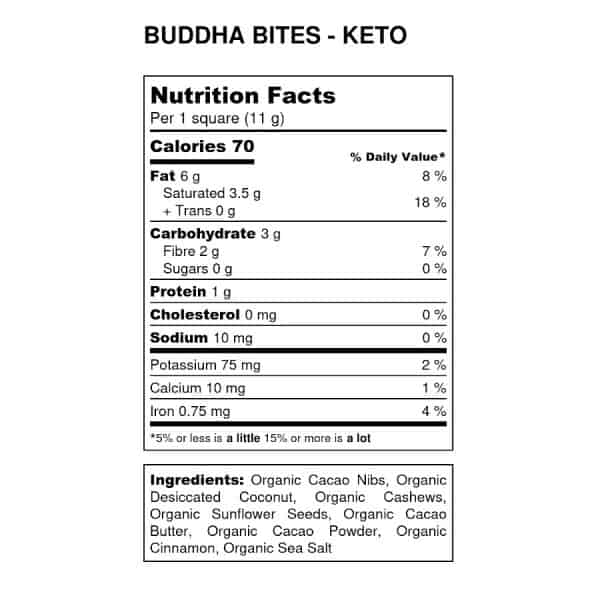 cacao-now-buddha-bites-keto-nutrition-label